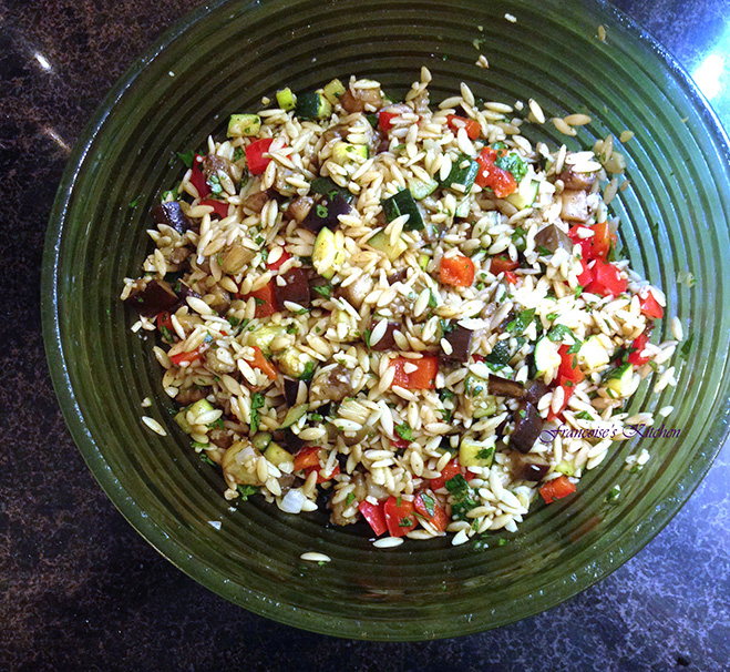 Orzo Salad Grilled Veggies1