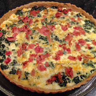 Spinach and goat cheese Tart