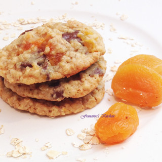 Apricot Chocolate Oatmeal Cookies