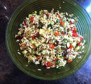 Orzo Salad Grilled Veggies