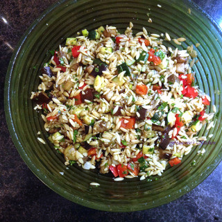 Orzo Salad with Grilled Vegetables