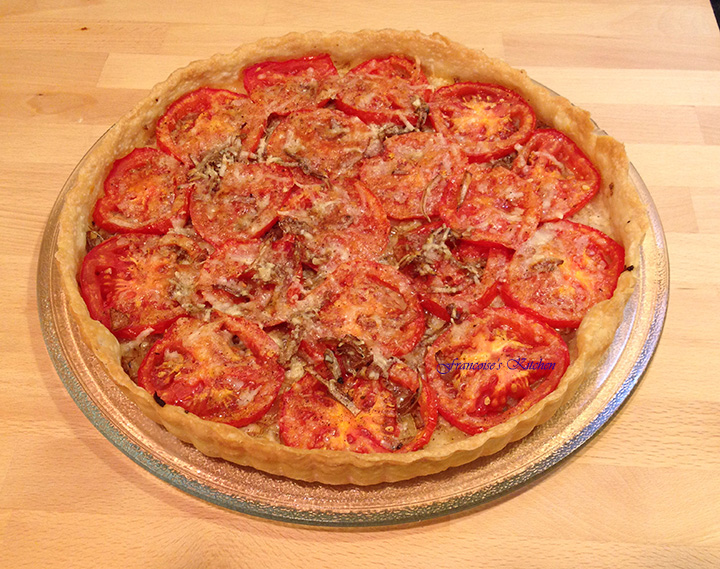 French Tomato and Mustard Tart1