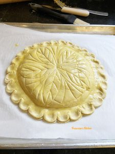 Galette des Rois (French King Cake) ready to go to the oven