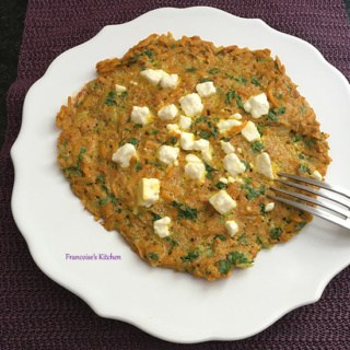 Curried Sweet Potato Omelette