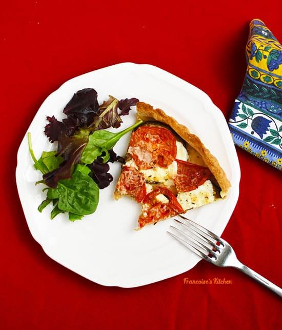 Eggplant, Tomato, Mozzarella Tart