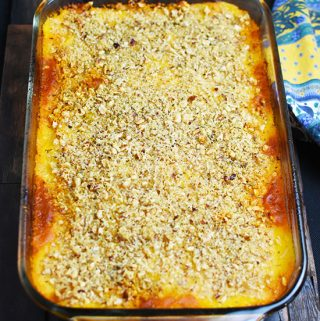 Lamb and Butternut Squash Gratin with Hazelnut Crust