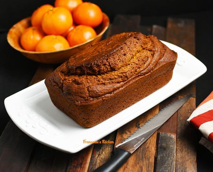 Mandarin Pumkin Bread