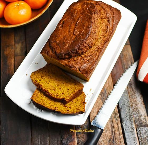 Mandarin Pumpkin Bread