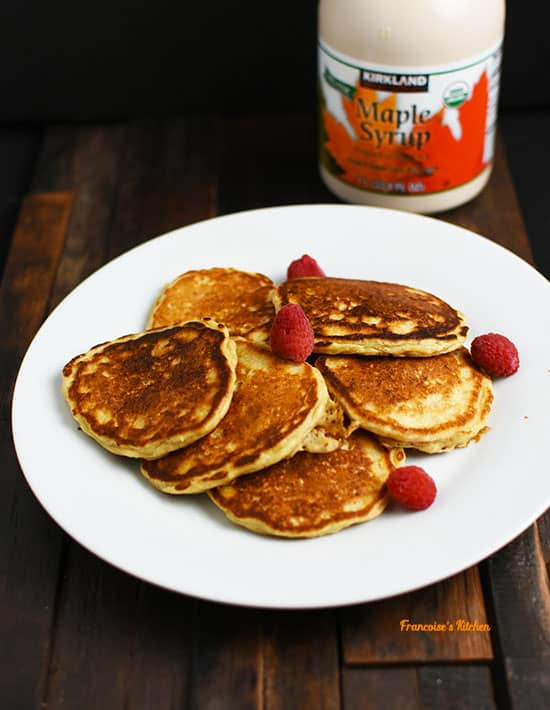Lighter Buttermilk Oatmeal Pancakes