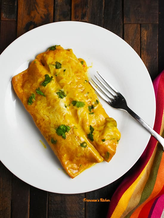 Shrimp and Veggie Enchiladas