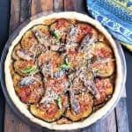 Sardine and Eggplant Tart