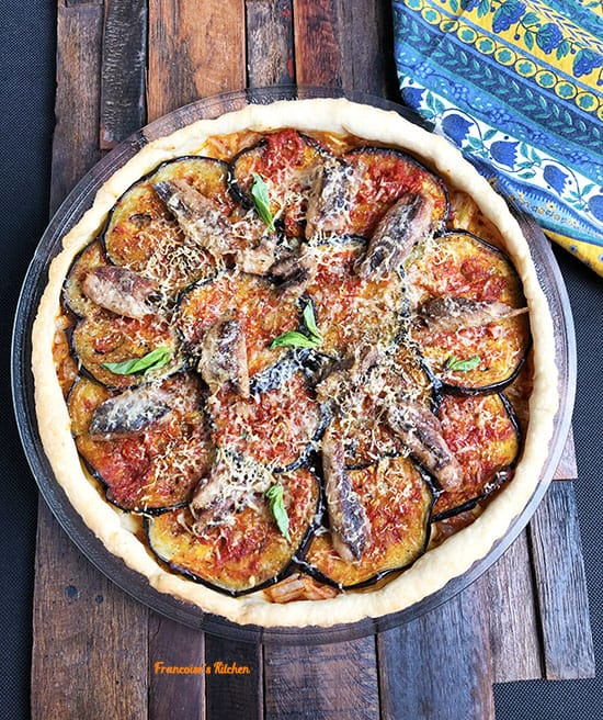 Eggplant and Sardine Tart