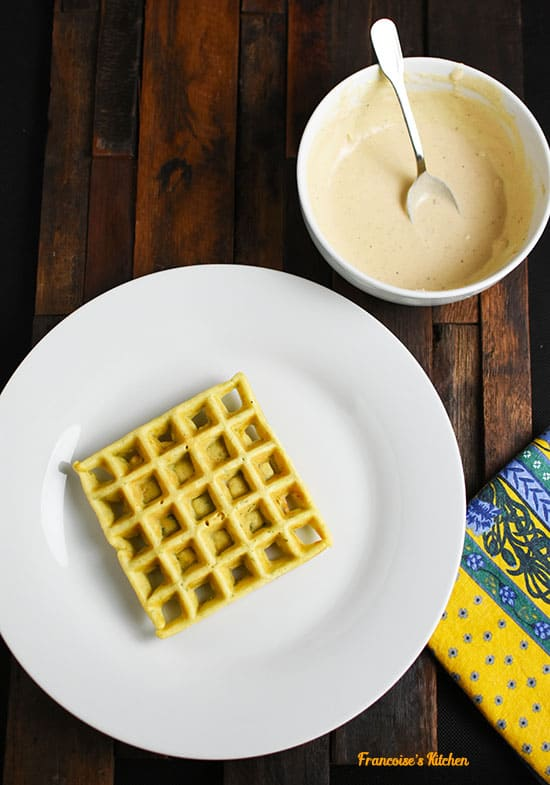 Wafflafels and Tahini Sauce
