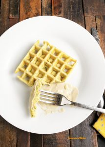 Wafflafels and Tahini Sauce