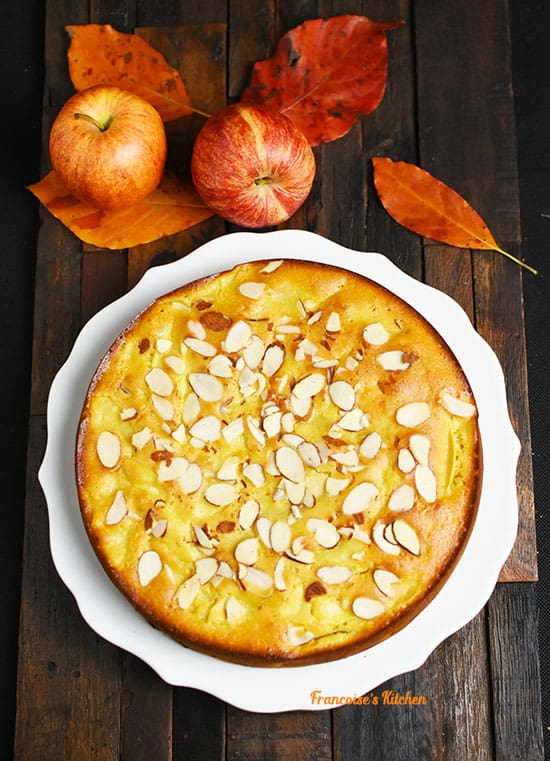 Kefir Olive Oil Cake with Apples and Raisins