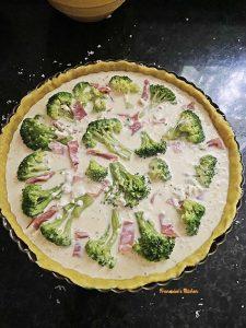 Broccoli Prosciutto Boursin Quiche