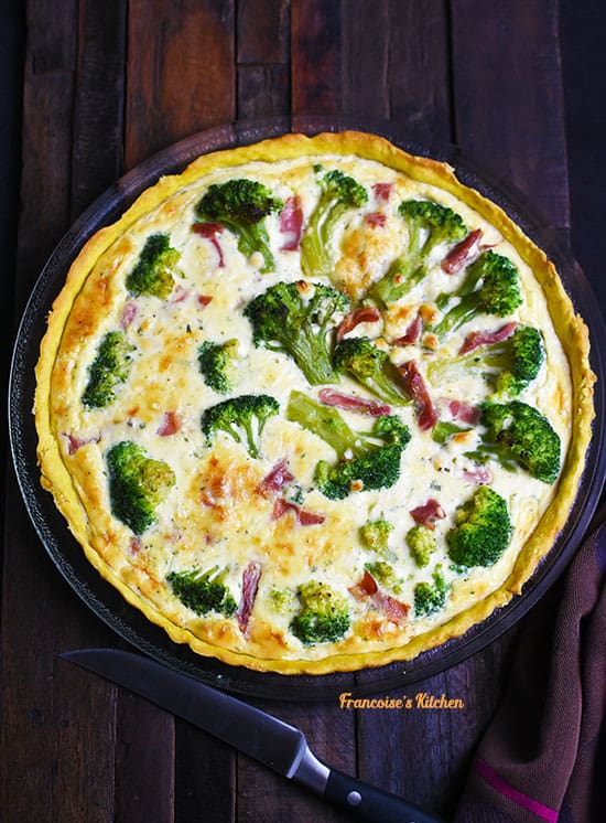 Broccoli Prosciutto Boursin Quiche
