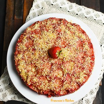 Strawberry Coconut Upside Down Cake