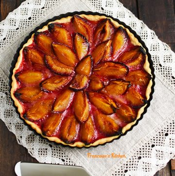 French Prune Plum Tart