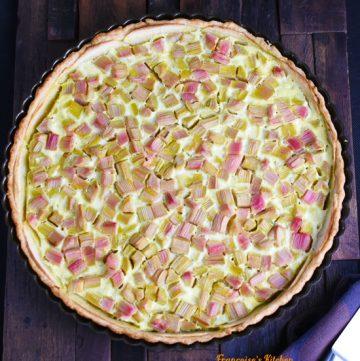 Tarte à la Rhubarbe et Pomme