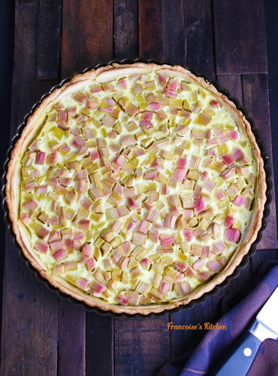 French Rhubarb Apple Tart